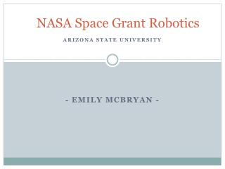NASA Space Grant Robotics