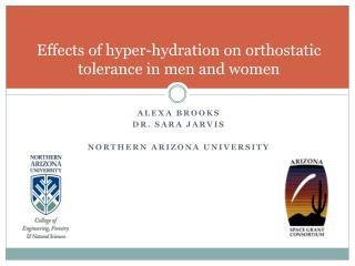 Effects of hyper-hydration on orthostatic tolerance in men and women