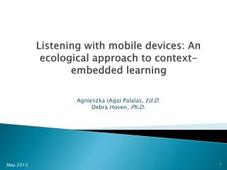 Listening with mobile devices: An ecological approach to context-embedded learning