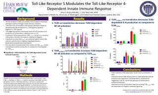 Toll-Like  Receptor  5 Modulates  the Toll-Like Receptor 4-Dependent  Innate Immune  Response
