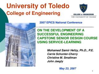 University of Toledo  College of Engineering
