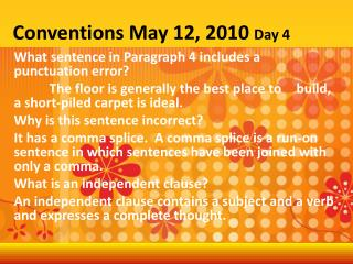 Conventions May 12, 2010  Day 4