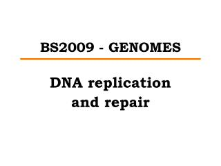 BS2009 - GENOMES