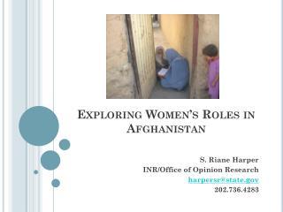 Exploring Women's Roles in Afghanistan