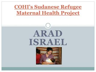 COHI's Sudanese Refugee Maternal Health Project