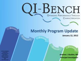 Monthly Program Update January 12, 2012 Andrew J. Buckler, MS Principal Investigator