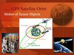 Chapter 3 GPS Satellite Orbit