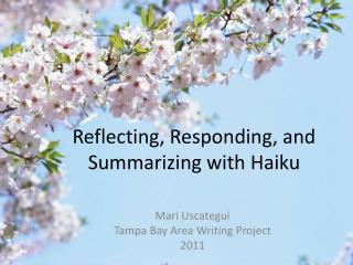 Reflecting, Responding, and Summarizing with Haiku