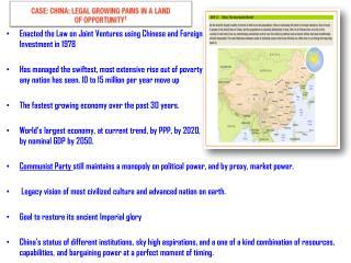 China Accomplishments Goals, Chapter 3 Opening Case