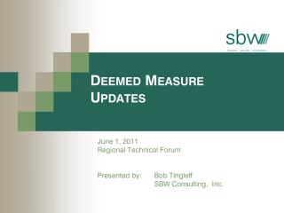 Deemed Measure Updates