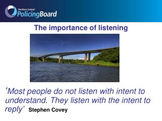 The importance of listening