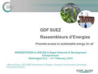 GDF SUEZ  Rassembleurs d'Energies