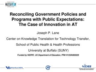 Joseph P. Lane Center on Knowledge Translation for Technology Transfer,