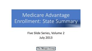 Medicare  Advantage  Enrollment: State Summary