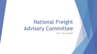 National Freight Advisory Committee