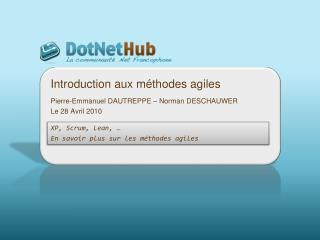 Introduction aux m�thodes agiles