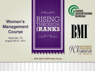 Women's Management Course Nashville, TN August 30-31, 2011