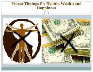 Prayer Timings for Health,  Wealth and  Happiness