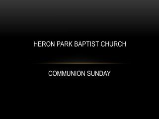 HERON PARK BAPTIST CHURCH