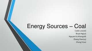 Energy Sources – Coal