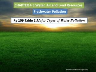 CHAPTER 4.3 Water, Air and Land Resources