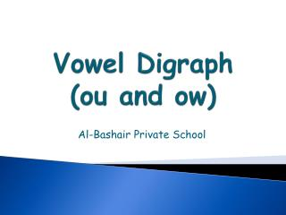 Vowel Digraph  ( ou and  ow )