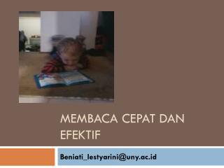Membaca cepat dan efektif