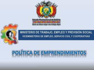 POLÍTICA DE EMPRENDIMIENTOS