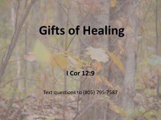 Gifts of Healing
