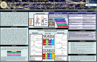 Study of biomechanical patterns for identifying biomarkers for knee osteoarthritis