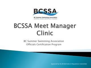 BCSSA Meet Manager Clinic