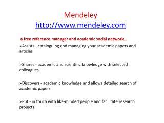 Mendeley mendeley