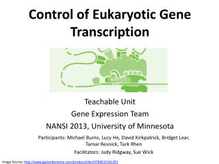 Control of Eukaryotic Gene Transcription