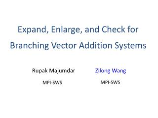 Expand, Enlarge, and Check for Branching Vector Addition Systems