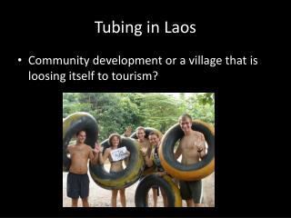 Tubing in Laos