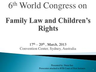 Family Law and Children's Rights