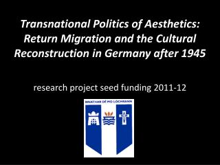 research project seed funding 2011-12