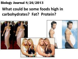 Biology Journal 8/26/2013