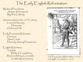 The Early English Reformation