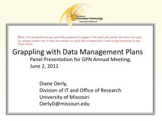 Grappling  with Data Management Plans