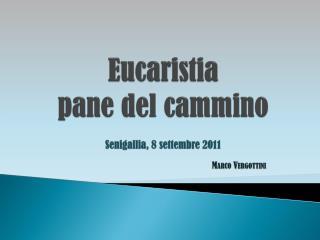 Eucaristia pane del cammino Senigallia , 8 settembre 2011 Marco  Vergottini
