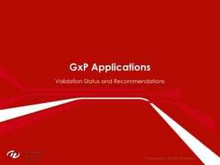 GxP  Applications