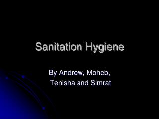 Sanitation Hygiene