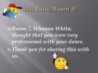 Well done, Room 8!