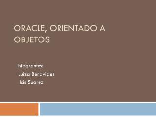 Oracle, orientado a objetos