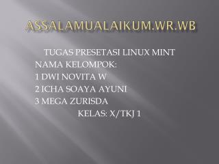 ASSALAMUALAIKUM.WR.WB