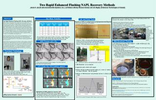 Two  Rapid Enhanced Flushing NAPL Recovery  Methods