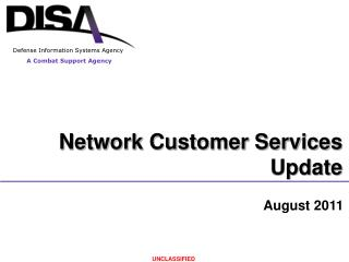 Network Customer Services Update