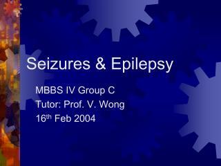 Seizures  Epilepsy