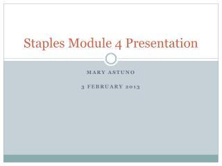 Staples Module 4 Presentation